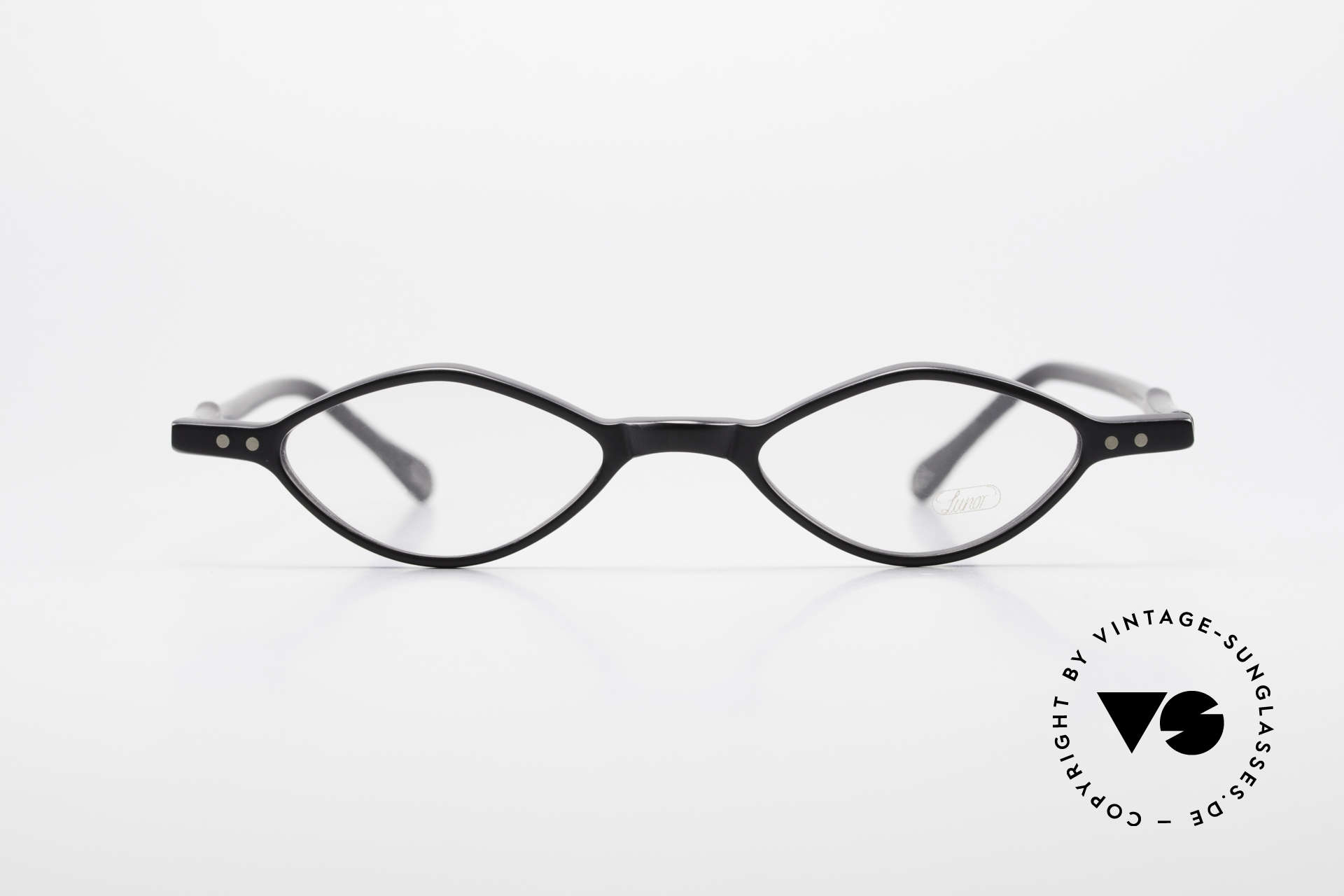 Lunor A44 Reading Glasses Acetate Frame, riveted hinges; cut precise to the tenth of a millimeter, Made for Men and Women