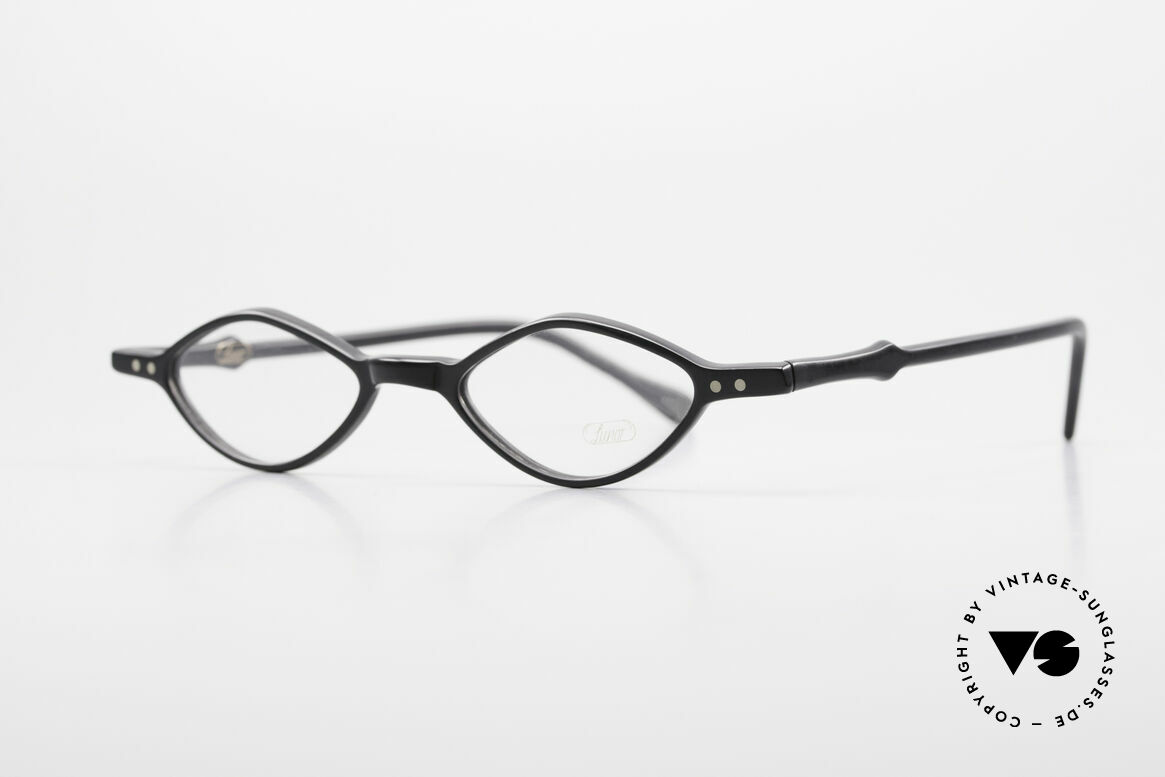 """Lunor A44 Reading Glasses Acetate Frame, unisex reading FRAME with a classic """"BLACK"""" coloring, Made for Men and Women"""