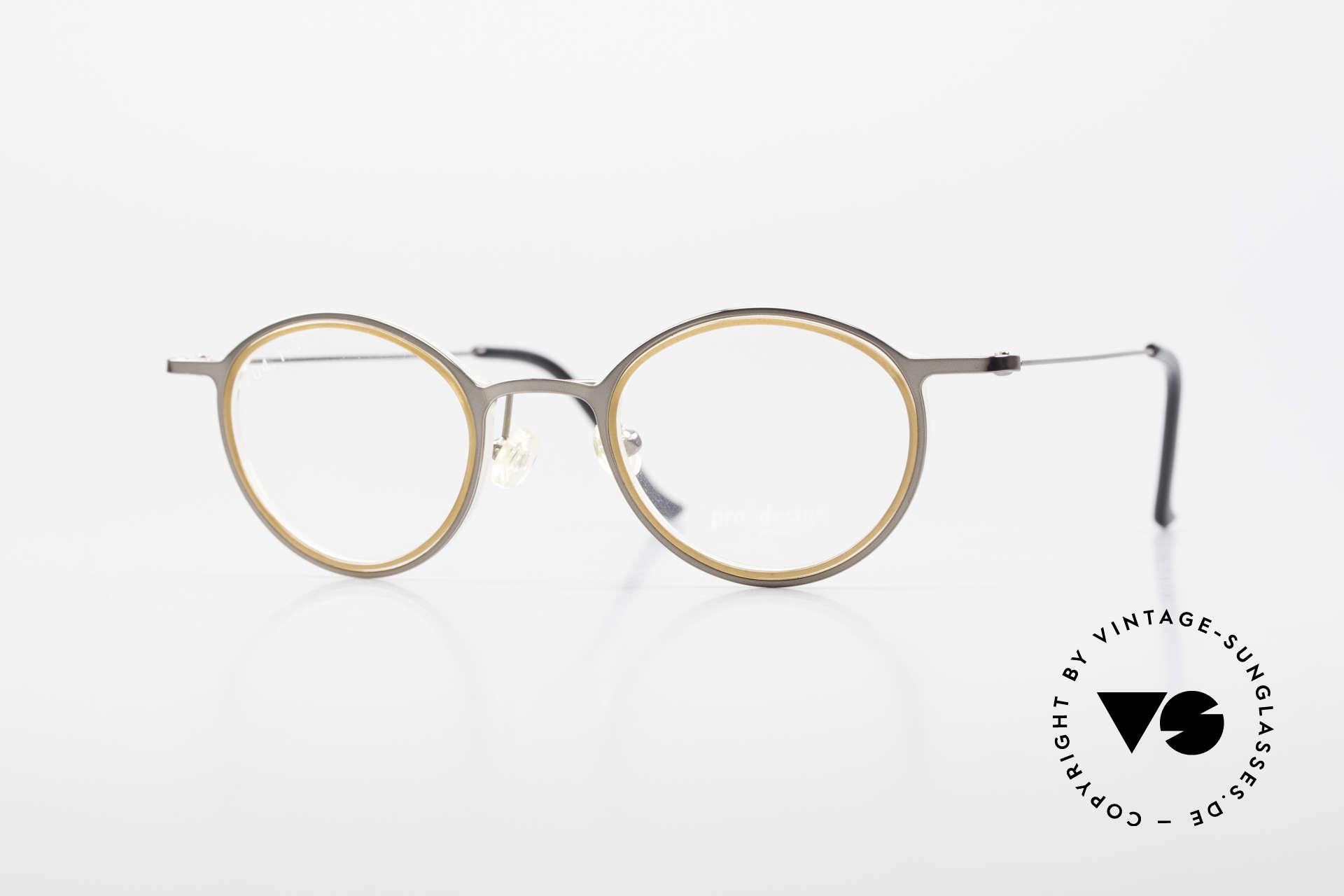ProDesign 7041 Unisex Panto Glasses 90s 2000s, Pro Design Optic Studio Denmark PANTO glasses, Made for Men and Women