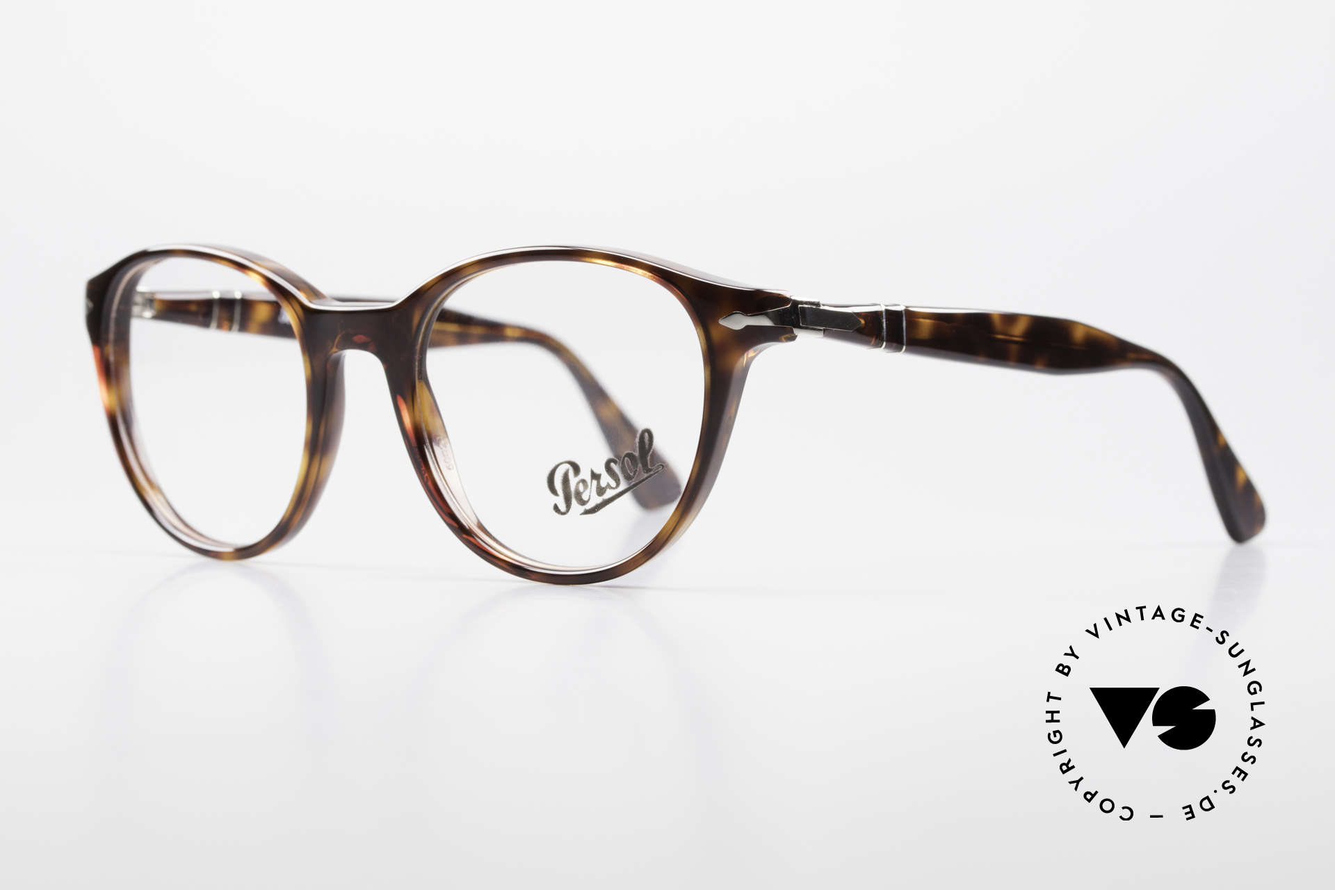 Persol 3153 Timeless Panto Unisex Frame, classic timeless design & flexible spring hinges, Made for Men and Women