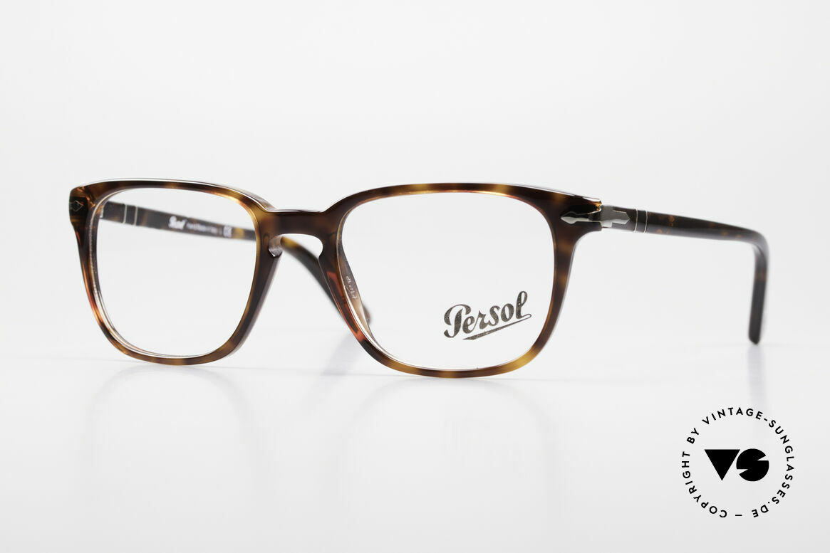 Persol 3117 Square Panto Unisex Glasses, very elegant Persol eyeglass-frame from Italy, Made for Men and Women