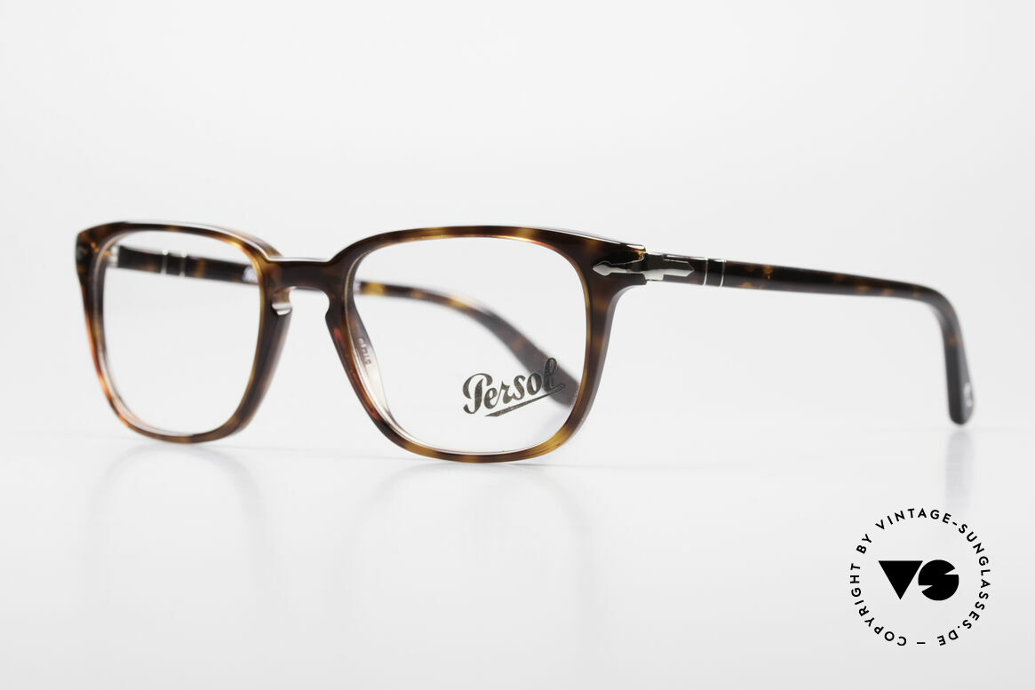 Persol 3117 Square Panto Unisex Glasses, square Panto design & top-notch craftsmanship, Made for Men and Women