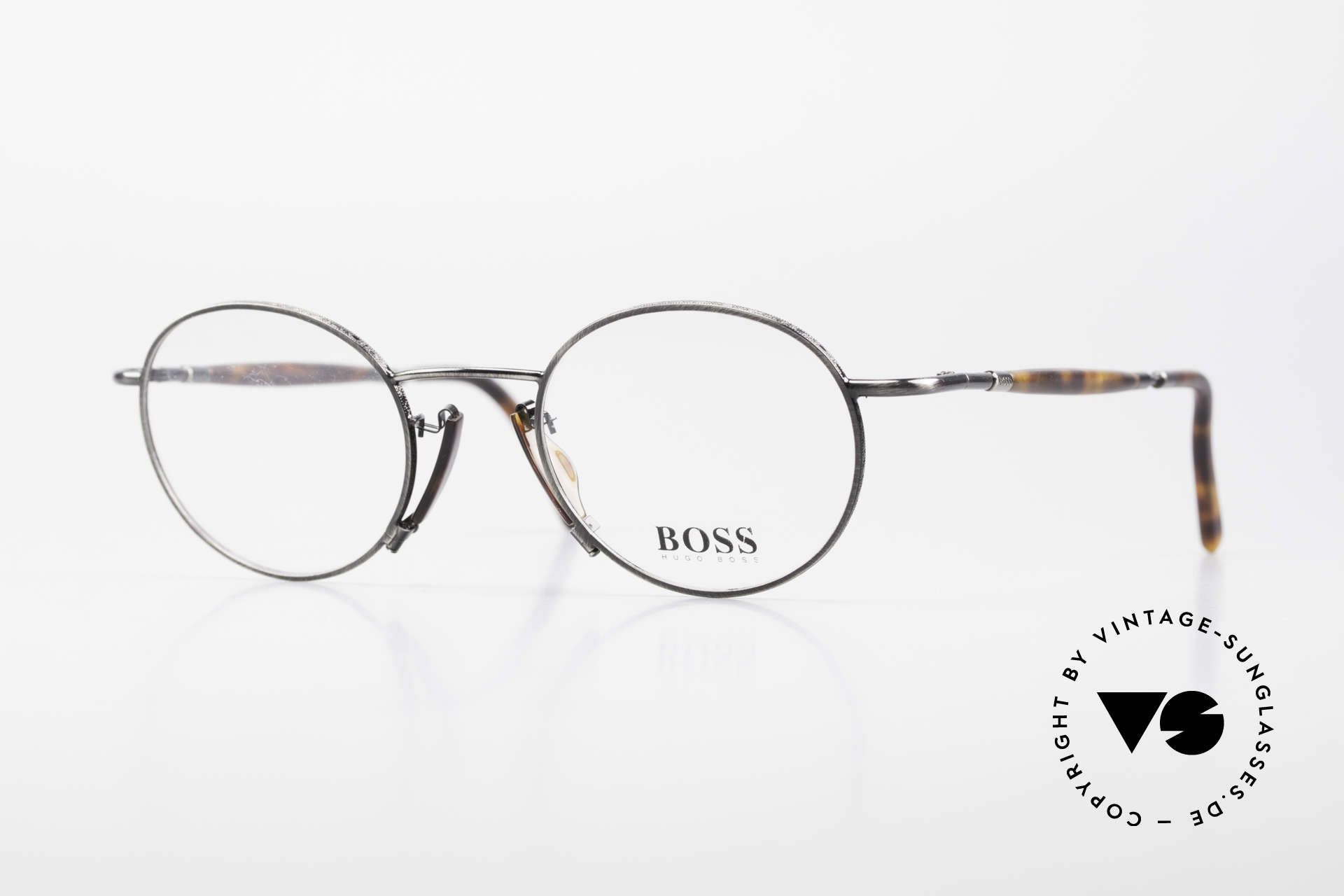 BOSS 4707 Round Panto Style Frame 90's, old BOSS 4707, 72, 48-21, 135 glasses from 1995, Made for Men