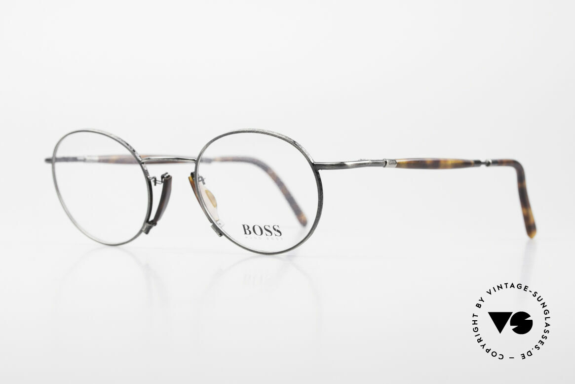 BOSS 4707 Round Panto Style Frame 90's, grand original in premium quality; just timeless, Made for Men