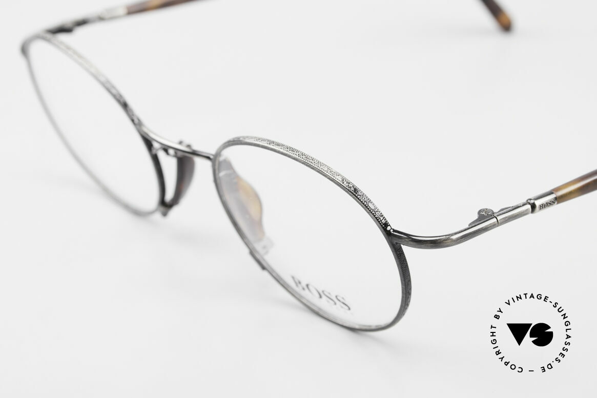 BOSS 4707 Round Panto Style Frame 90's, dressy color combination in gunmetal / tortoise, Made for Men