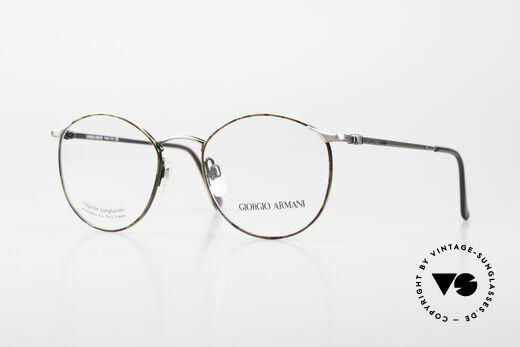Giorgio Armani 132 Rare Old 90's Panto Eyeglasses Details