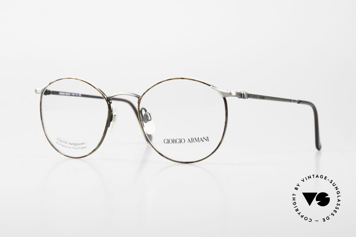 Giorgio Armani 132 Rare Old 90's Panto Eyeglasses, timeless vintage Giorgio Armani designer eyeglasses, Made for Men
