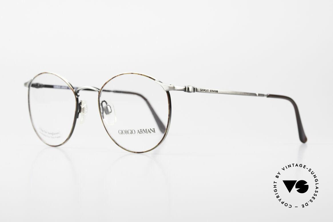 Giorgio Armani 132 Rare Old 90's Panto Eyeglasses, true 'gentlemen glasses' in tangible premium-quality, Made for Men