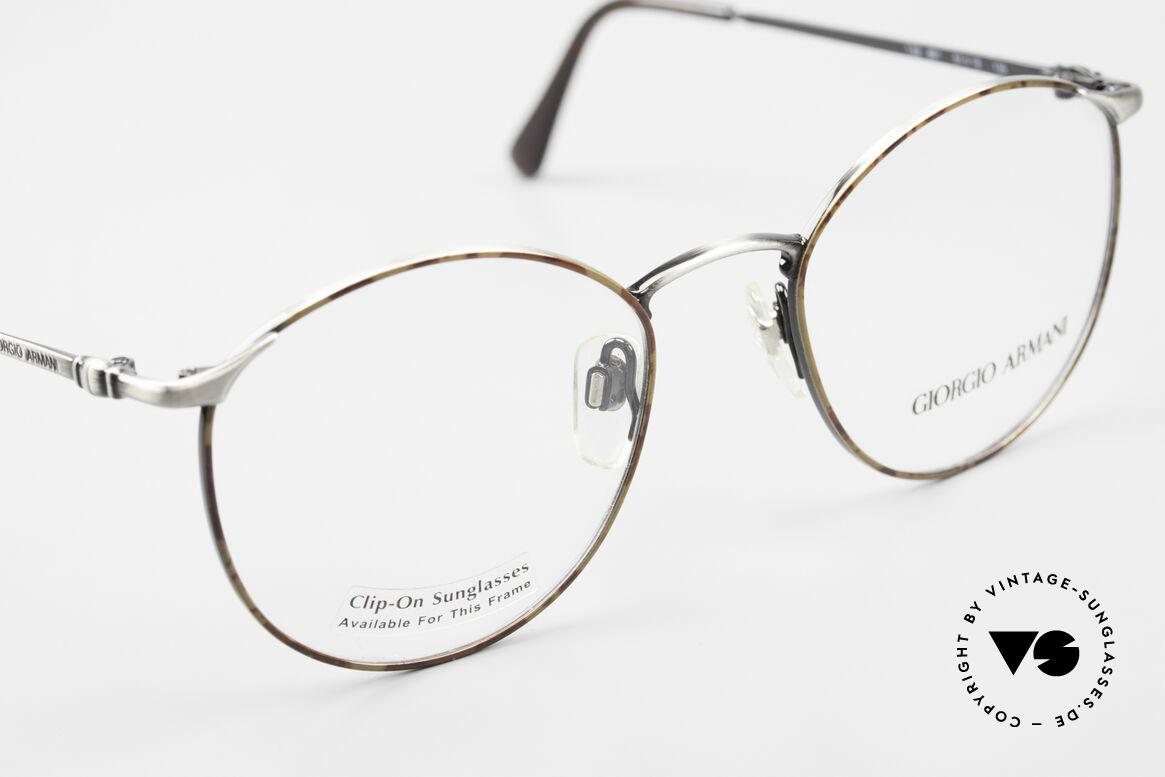 Giorgio Armani 132 Rare Old 90's Panto Eyeglasses, unworn rarity (model 132, color 861, size 51/19, 135), Made for Men
