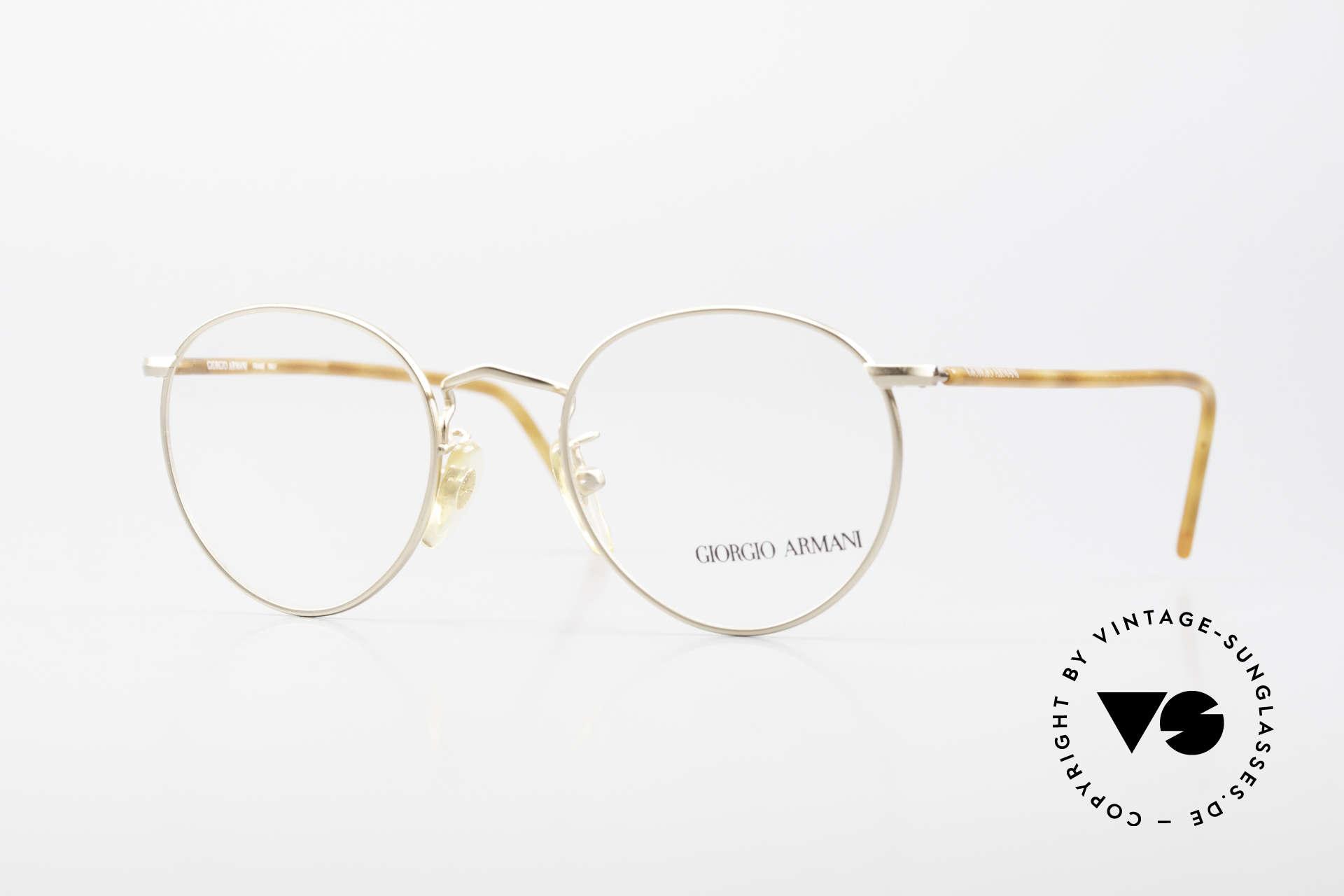 Giorgio Armani 138 Vintage Panto Eyeglasses 90's, timeless vintage Giorgio Armani designer eyeglasses, Made for Men and Women