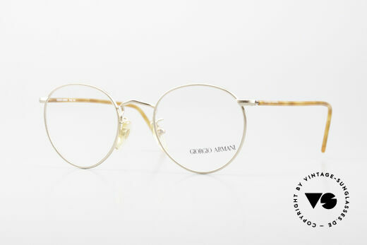 Giorgio Armani 138 Vintage Panto Eyeglasses 90's Details