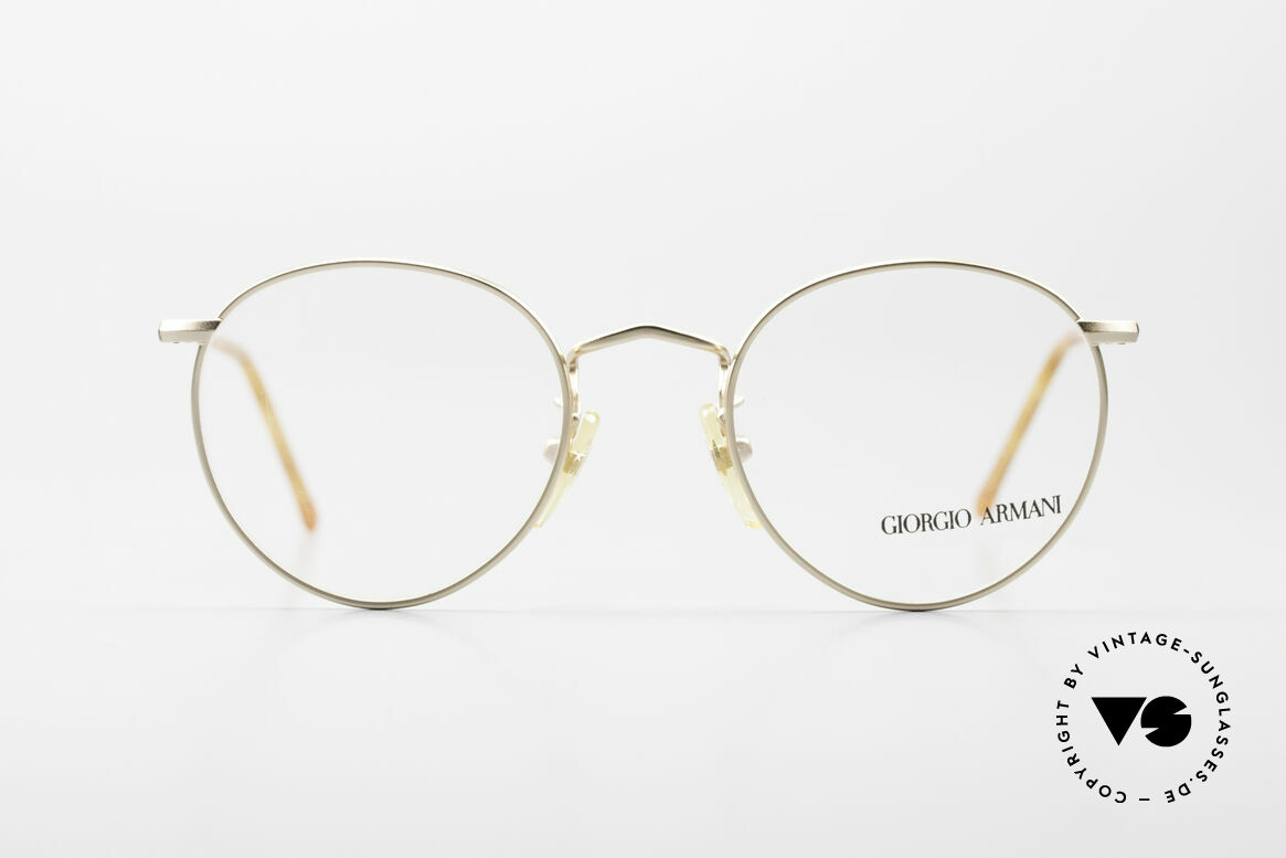 Giorgio Armani 138 Vintage Panto Eyeglasses 90's, world famous 'panto'-design .. in SMALL size 47/20, Made for Men and Women