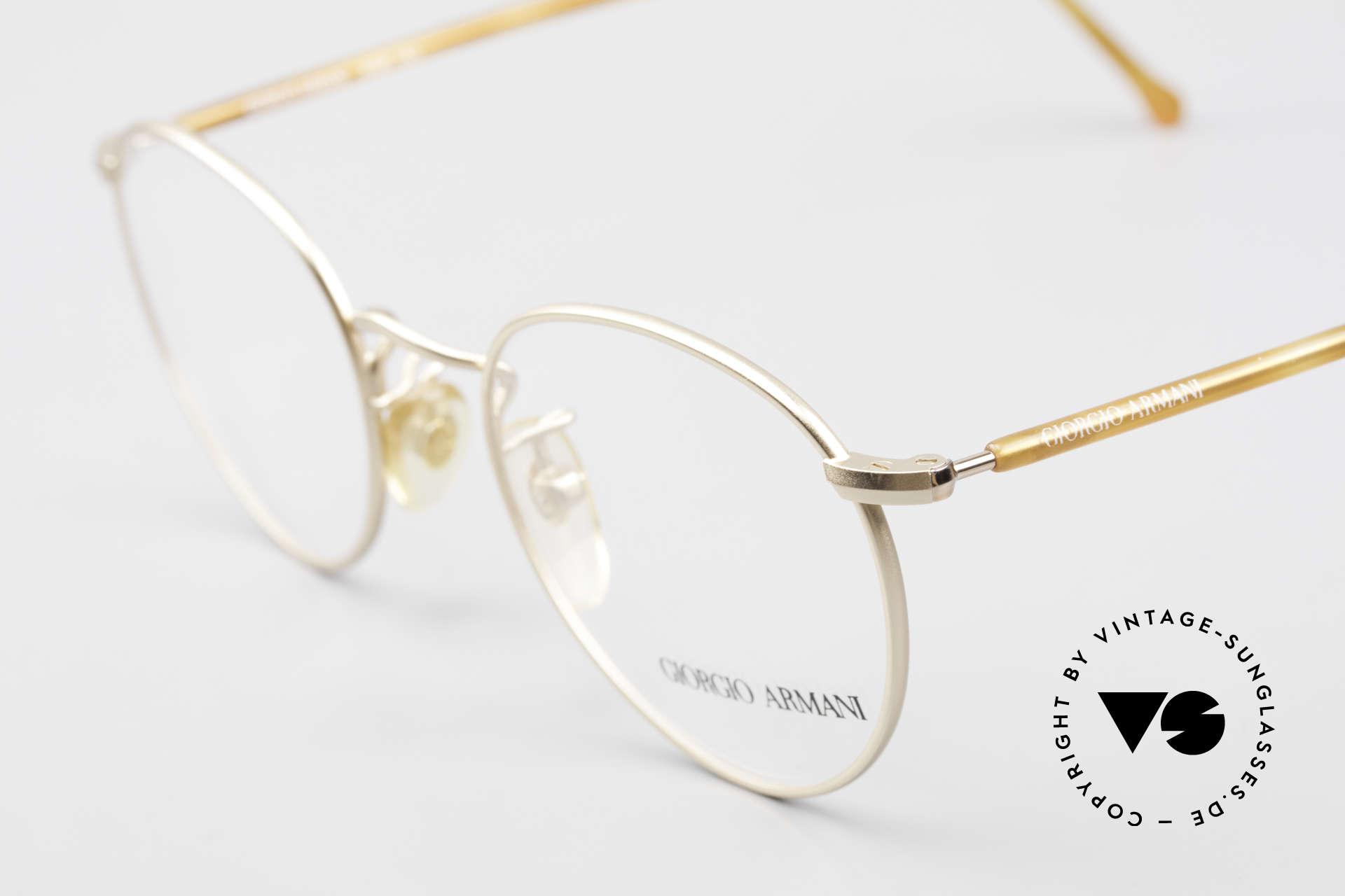 "Giorgio Armani 138 Vintage Panto Eyeglasses 90's, almost a ""spiritual or intellectual"" eyeglass' design, Made for Men and Women"