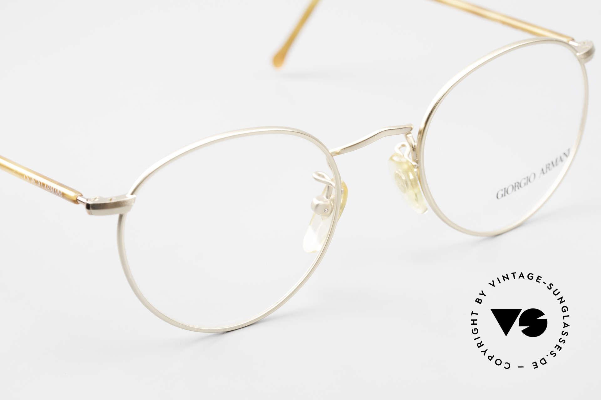Giorgio Armani 138 Vintage Panto Eyeglasses 90's, unworn (like all our vintage GIORGIO Armani frames), Made for Men and Women