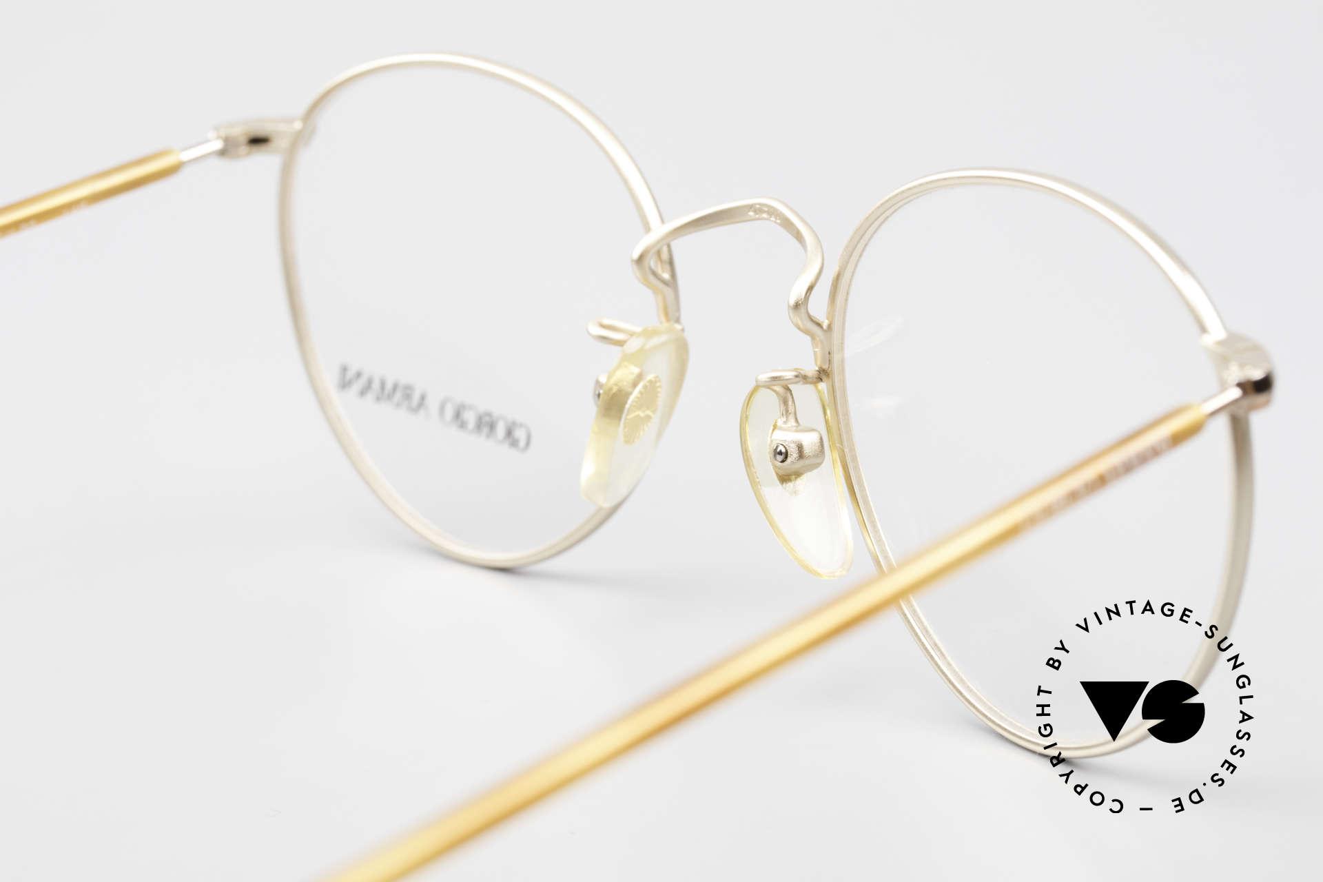 Giorgio Armani 138 Vintage Panto Eyeglasses 90's, NO retro specs, but a unique 30 years old ORIGINAL!, Made for Men and Women