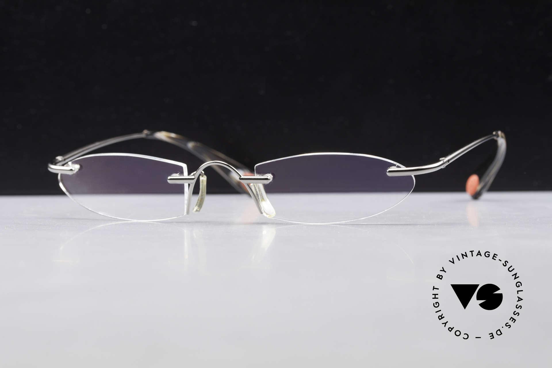 Bugatti 355 Odotype Rimless Designer Frame Men, RIMLESS eyeglasses with special lens shape, Made for Men