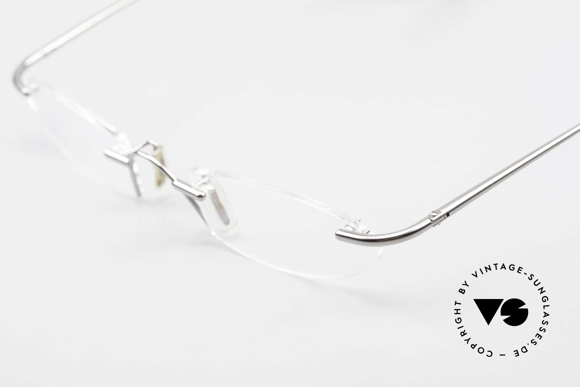 Bugatti 355 Odotype Rimless Designer Frame Men, frame is made for optical lenses / sun lenses, Made for Men