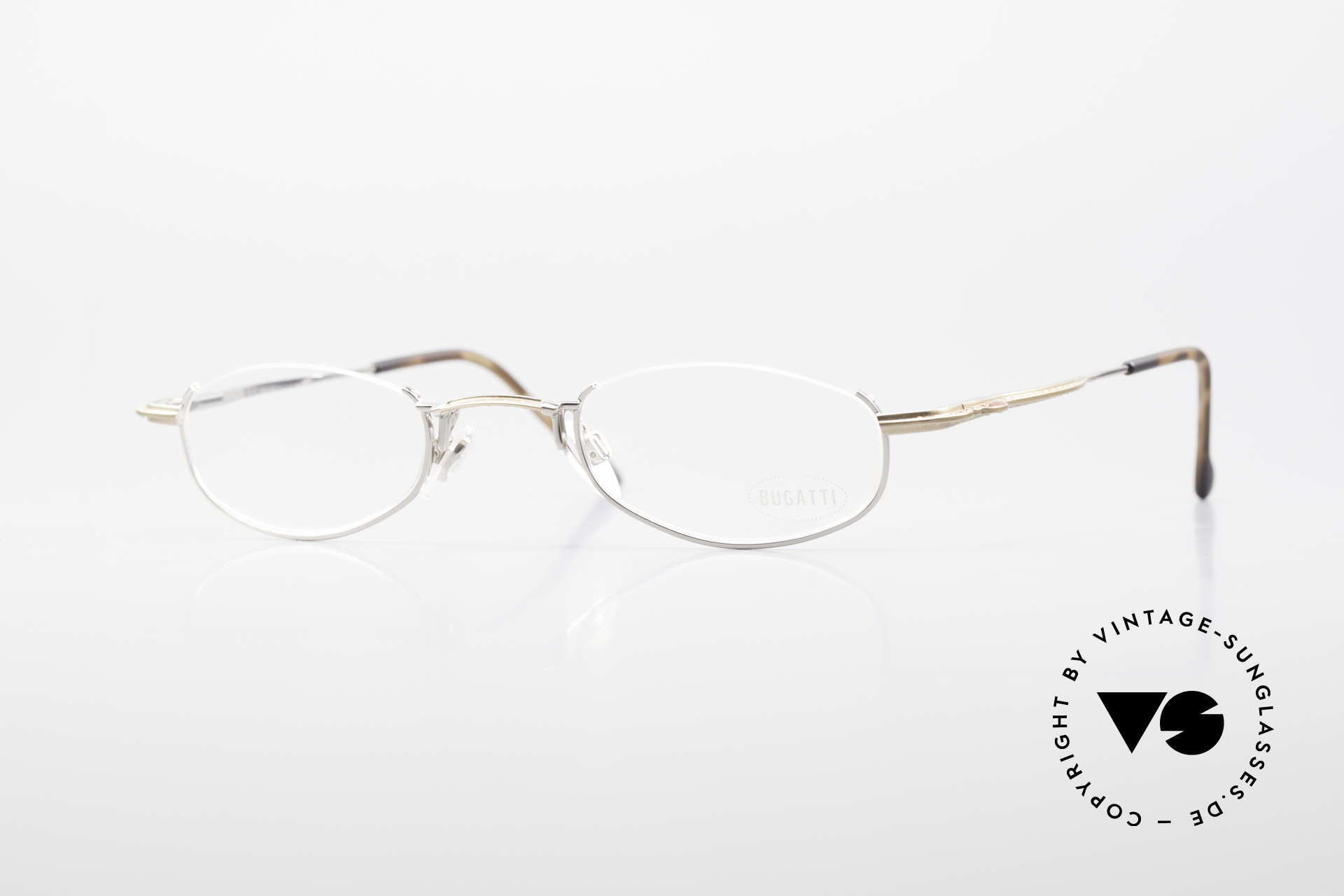 Bugatti 23668 High-Tech Reading Eyeglasses, original, vintage reading eyeglass-frame by Bugatti, Made for Men