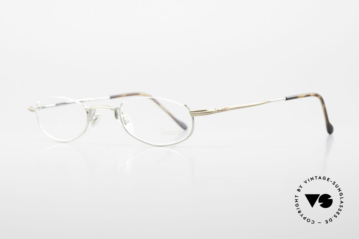 Bugatti 23668 High-Tech Reading Eyeglasses, noble finish in bicolor: gold-plated & silver-plated, Made for Men