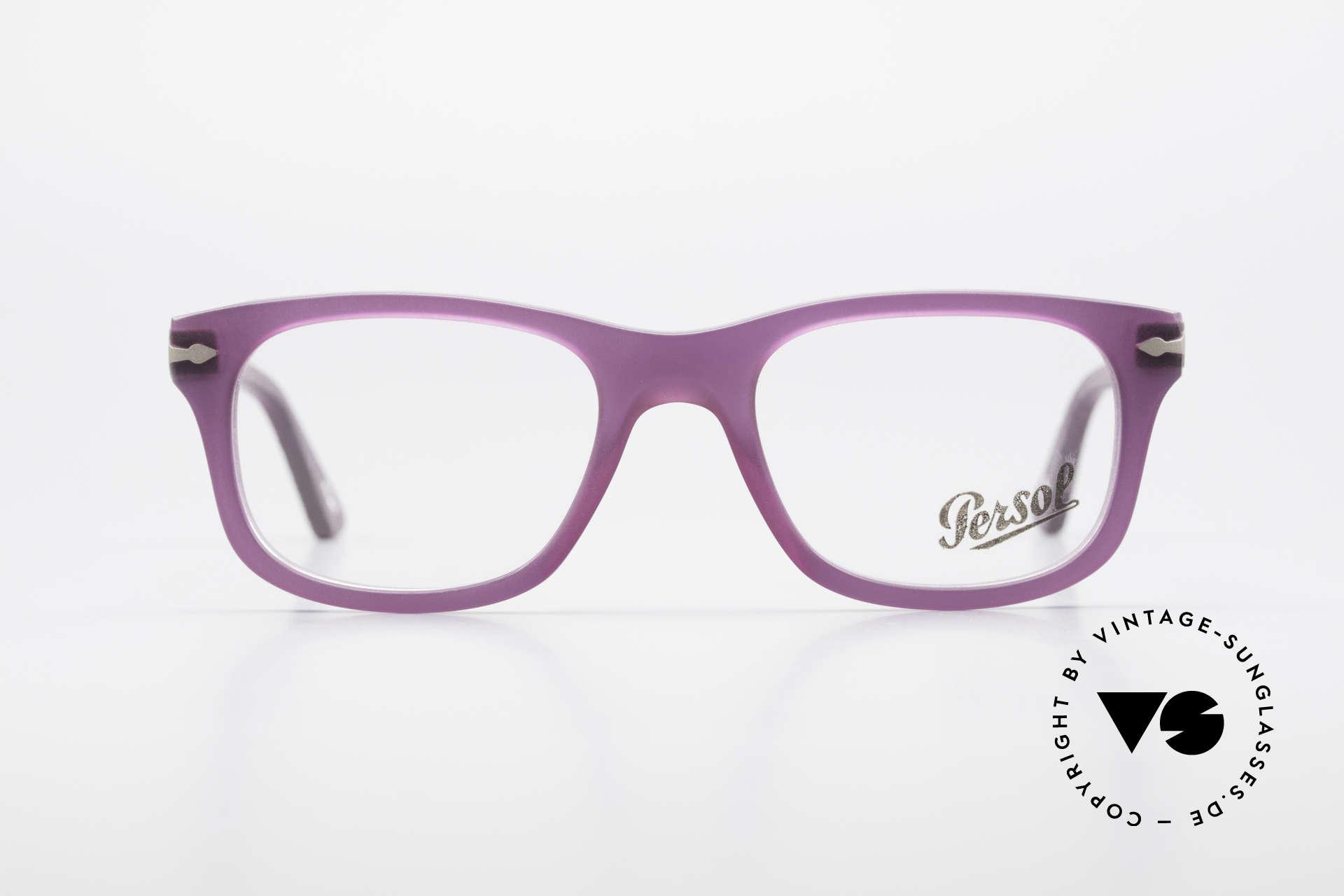 "Persol 3029 Ladies Glasses Purple Violet, interesting frame coloring ""purple translucent"", Made for Women"