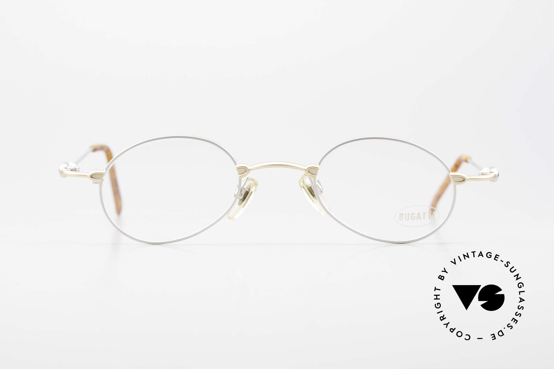 Bugatti 10759 Vintage Eyeglasses Men 90's, materials and craftsmanship on top level; size 44°23, Made for Men