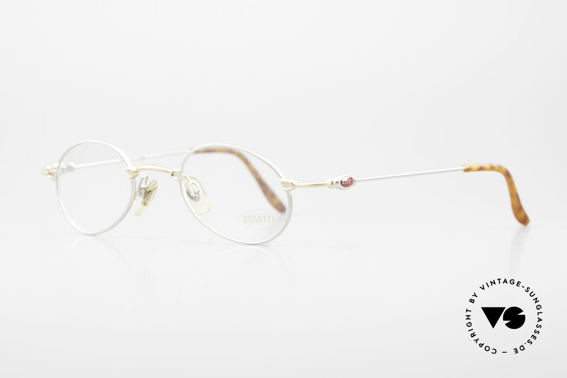 Bugatti 10759 Vintage Eyeglasses Men 90's, classic and timeless design (bicolor: gold and silver), Made for Men