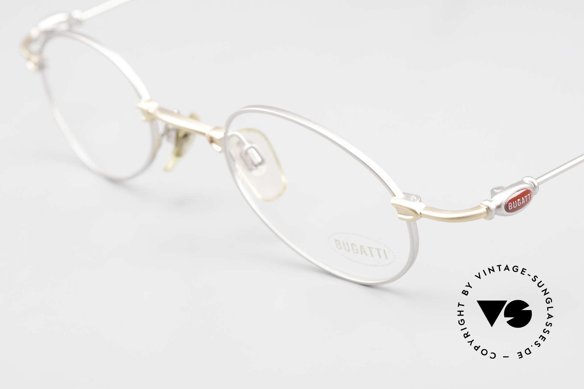 Bugatti 10759 Vintage Eyeglasses Men 90's, unworn rarity of the late 90's (incl. Bugatti hard case), Made for Men