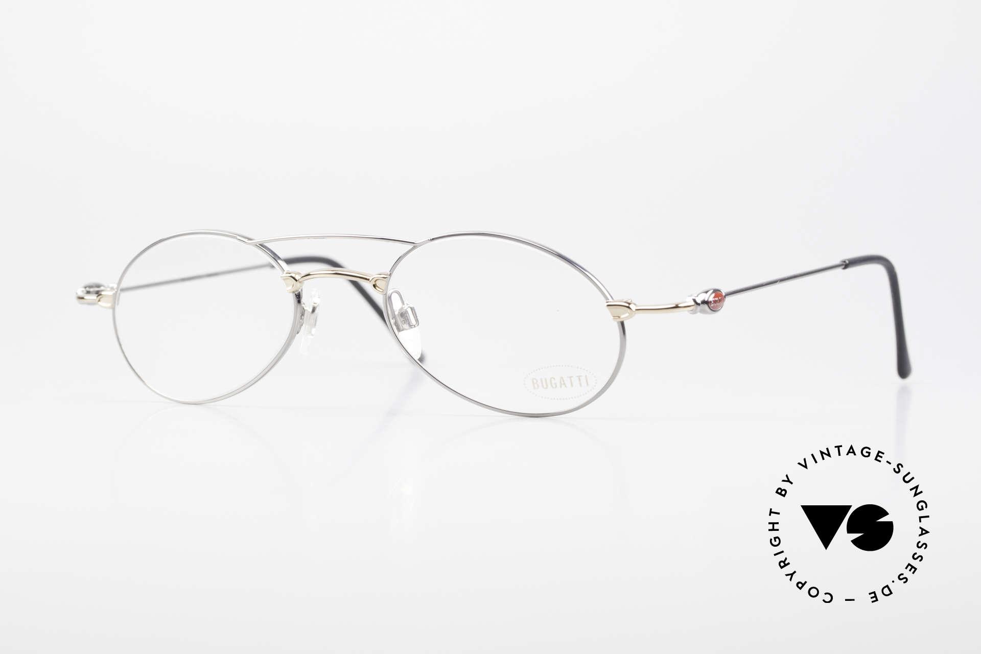 Bugatti 10892 Vintage Men's Eyeglasses 90's, very interesting men's designer glasses by BUGATTI, Made for Men