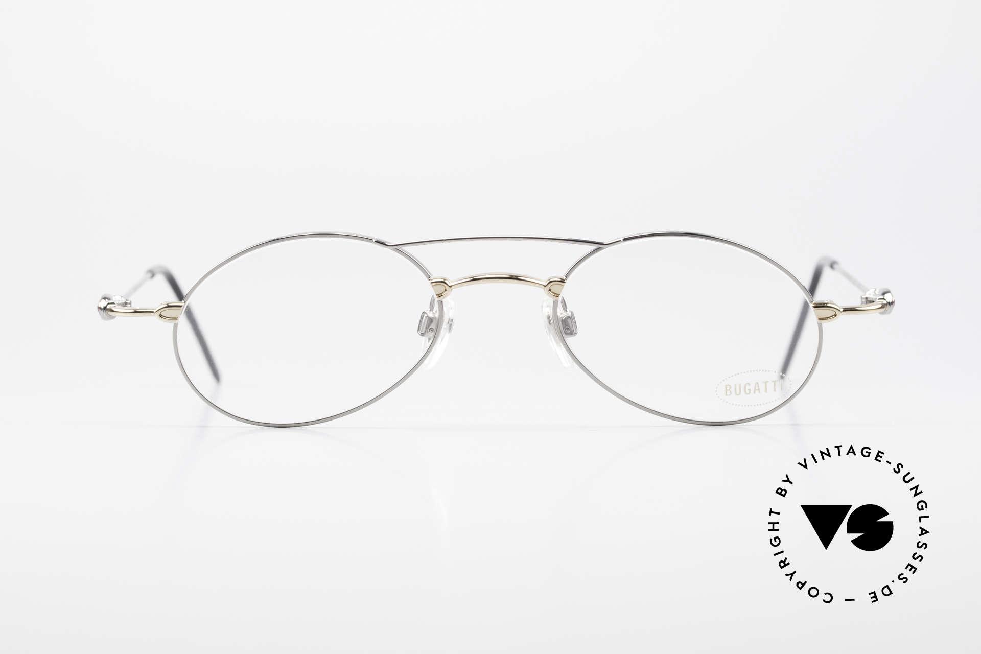 Bugatti 10892 Vintage Men's Eyeglasses 90's, materials and craftsmanship on top level; size 50°21, Made for Men