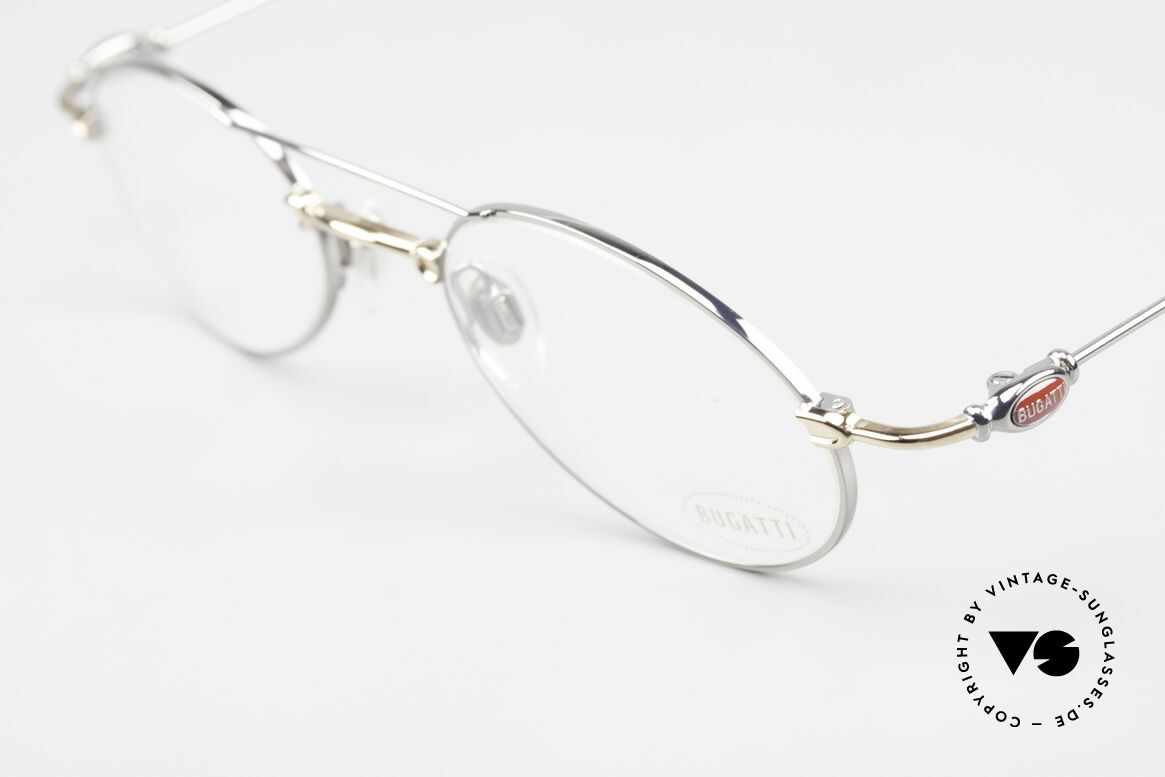 Bugatti 10892 Vintage Men's Eyeglasses 90's, unworn rarity of the late 90's (incl. Bugatti hard case), Made for Men