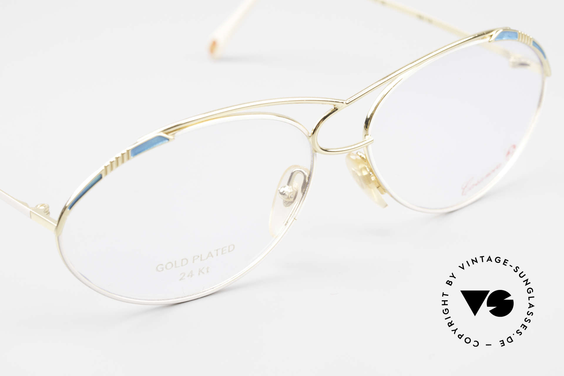 Casanova LC13 24kt Gold Plated Vintage Frame, NOS - unworn (like all our artistic vintage 80's eyewear), Made for Women