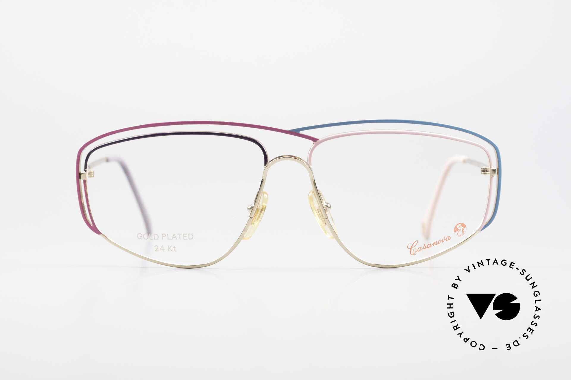 Casanova CN24 24kt Gold Plated Ladies Frame, fantastic combination of colors, shape & functionality, Made for Women