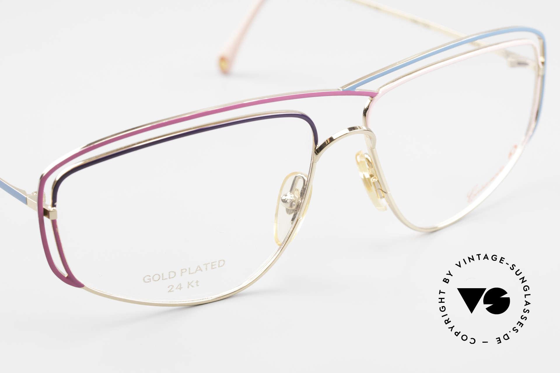 Casanova CN24 24kt Gold Plated Ladies Frame, NOS - unworn (like all our artistic vintage 80's eyewear), Made for Women