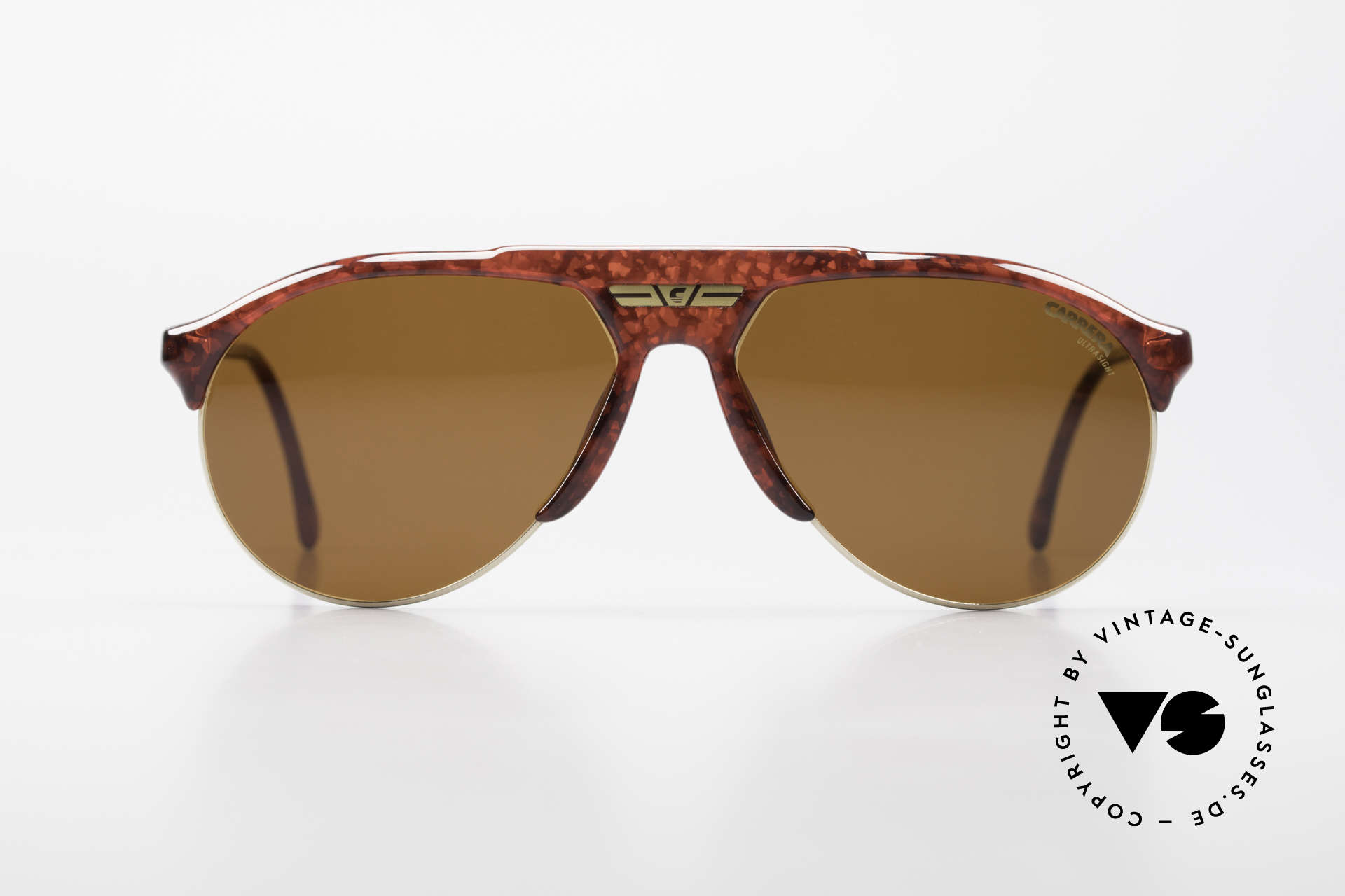 Carrera 5444 Wide Aviator Sunglasses 90's, everlasting Optyl-frame (shines like just produced), Made for Men