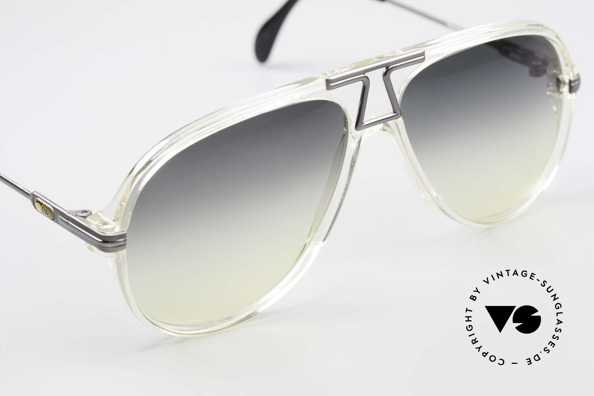 Cazal 622 Old 80's West Germany Cazal, gray/yellow gradient sun lenses; 100% UV protection, Made for Men