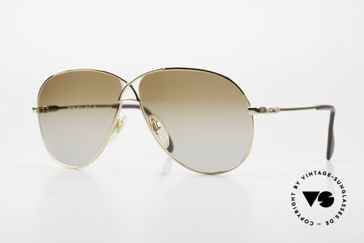 Cazal 728 Vintage Aviator Sunglasses Details