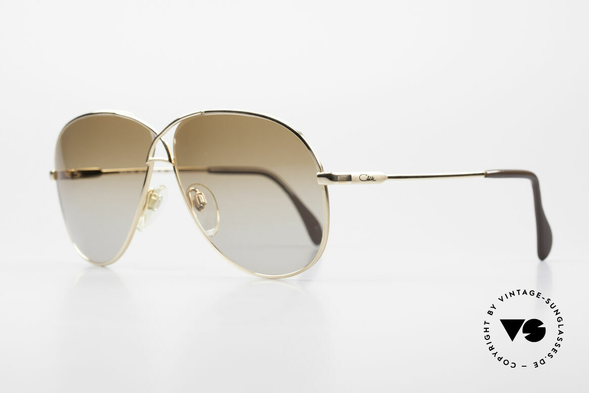 Cazal 728 Vintage Aviator Sunglasses, lightweight curved frame; in LARGE size 62-11, Made for Men