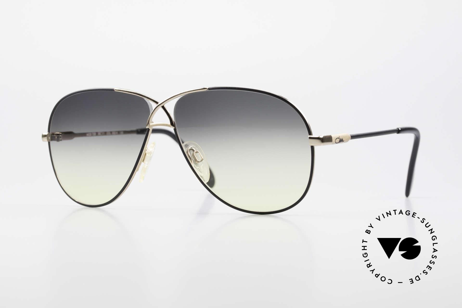 Cazal 728 Designer Aviator Sunglasses, legendary aviator design from the 80's by Cazal, Made for Men and Women