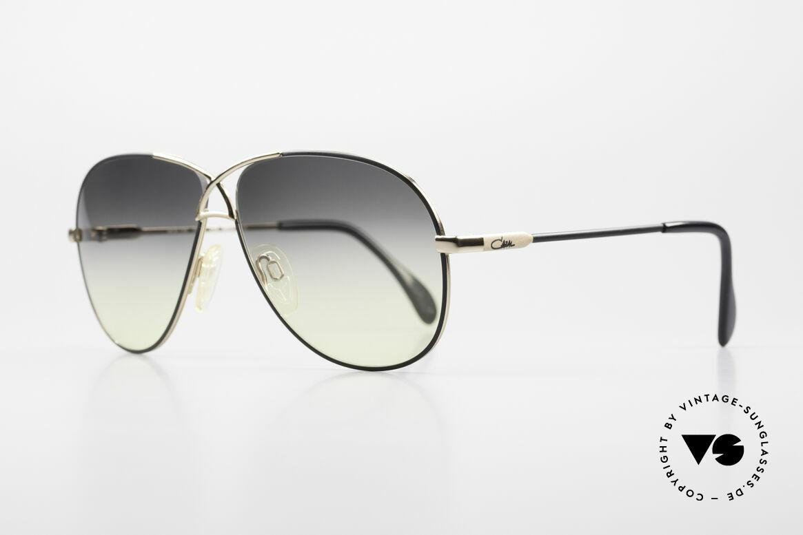 Cazal 728 Designer Aviator Sunglasses, lightweight curved frame; in medium size 59-11, Made for Men and Women