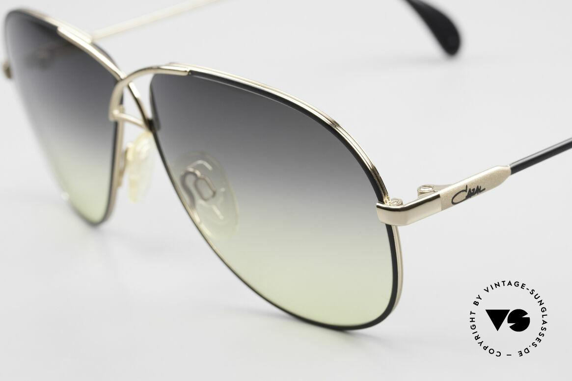 Cazal 728 Designer Aviator Sunglasses, fancy sun lenses (gray-yellow gradient); 100% UV, Made for Men and Women