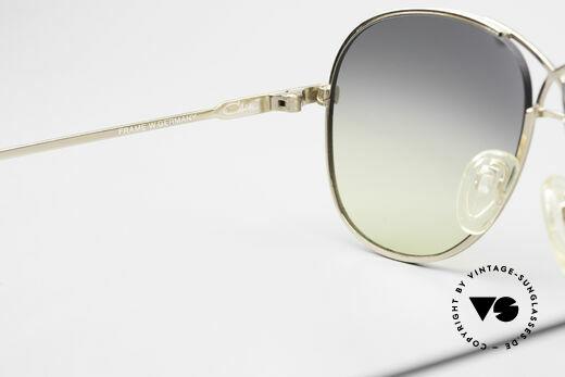 Cazal 728 Designer Aviator Sunglasses, NO RETRO sunglasses, but a 30 years old original, Made for Men and Women