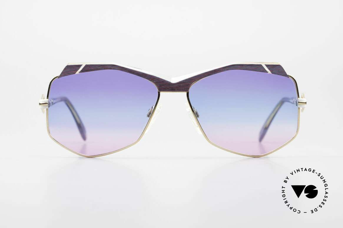 Cazal 230 Colorful Cazal Sunglasses 80's, extraordinary, hexagonal lenses - true vintage!, Made for Women