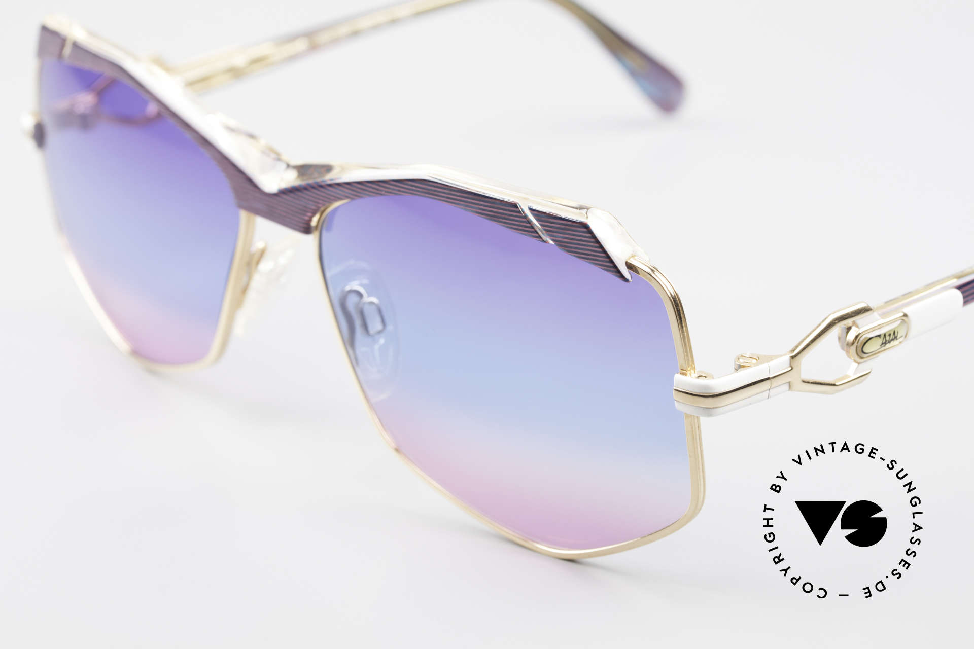 Cazal 230 Colorful Cazal Sunglasses 80's, new old stock (like all our rare vintage Cazals), Made for Women