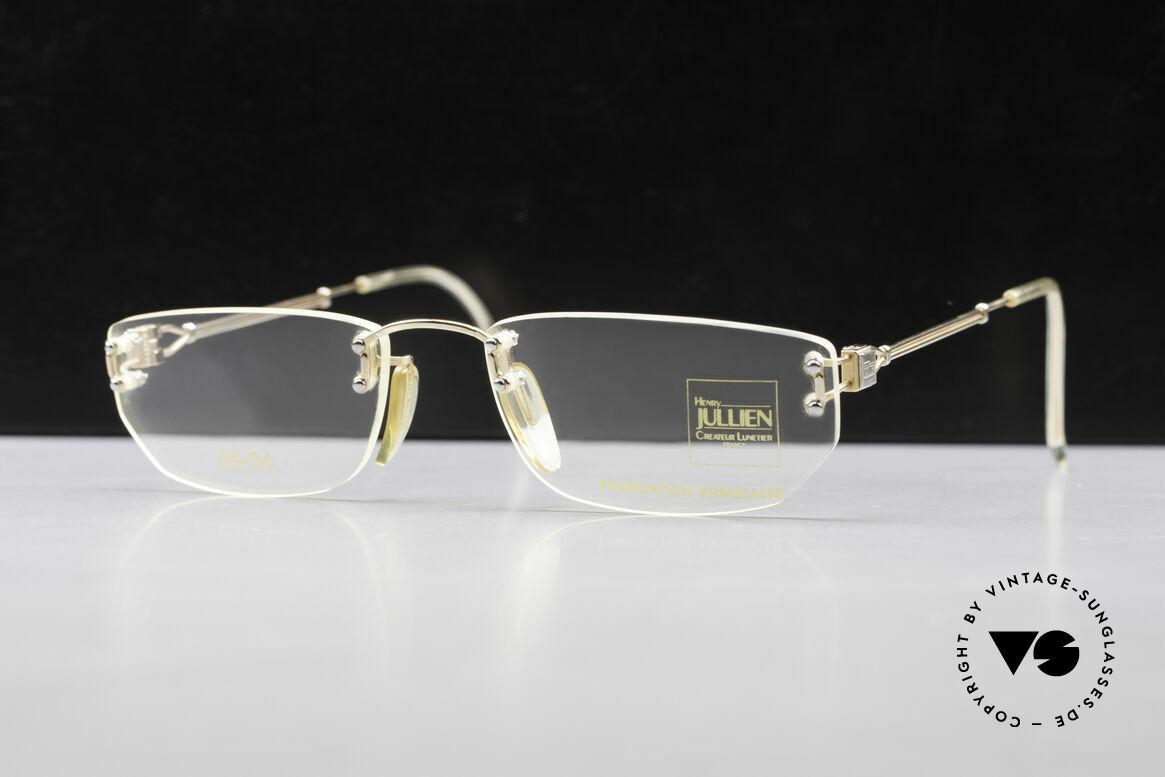 Henry Jullien Melrose 09 Rimless Vintage Frame 1994, rimless vintage eyeglass-frame by HENRY JULLIEN, Made for Women