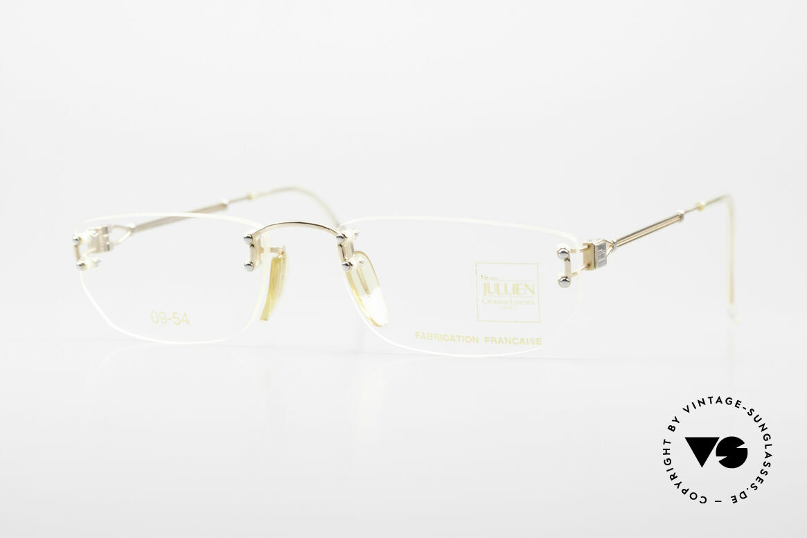 Henry Jullien Melrose 09 Rimless Vintage Frame 1994, accordingly top-notch, noble & precious frame finish, Made for Women