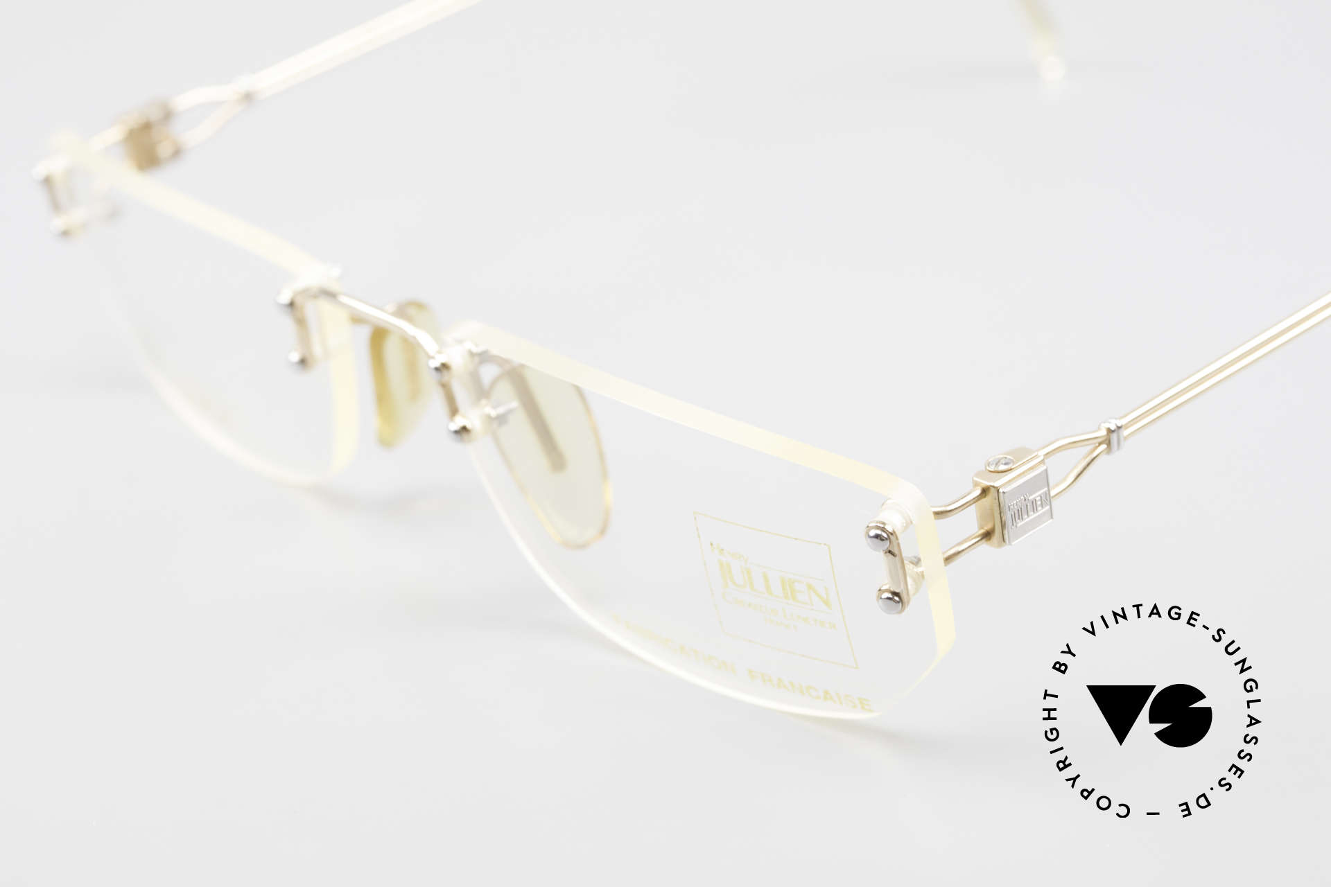 Henry Jullien Melrose 09 Rimless Vintage Frame 1994, NO retro specs; but an authentic rarity from 1993/94, Made for Women