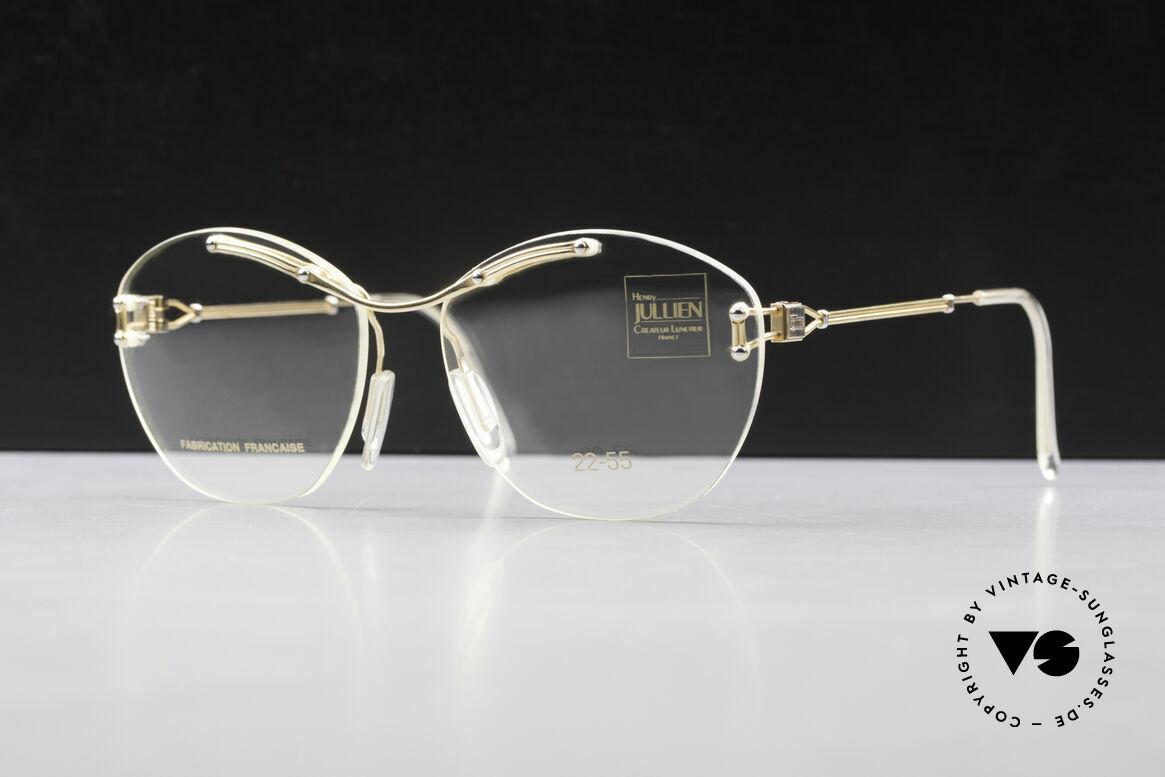 Henry Jullien Melrose 2255 Rimless Vintage Ladies Frame, rimless vintage eyeglass-frame by HENRY JULLIEN, Made for Women