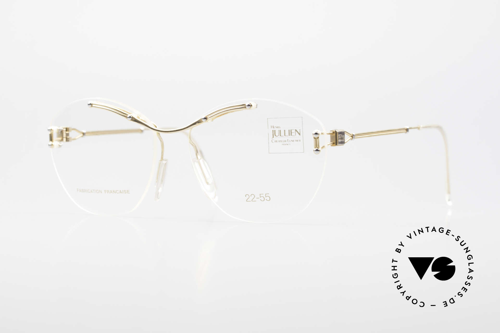 Henry Jullien Melrose 2255 Rimless Vintage Ladies Frame, accordingly top-notch, noble & precious frame finish, Made for Women