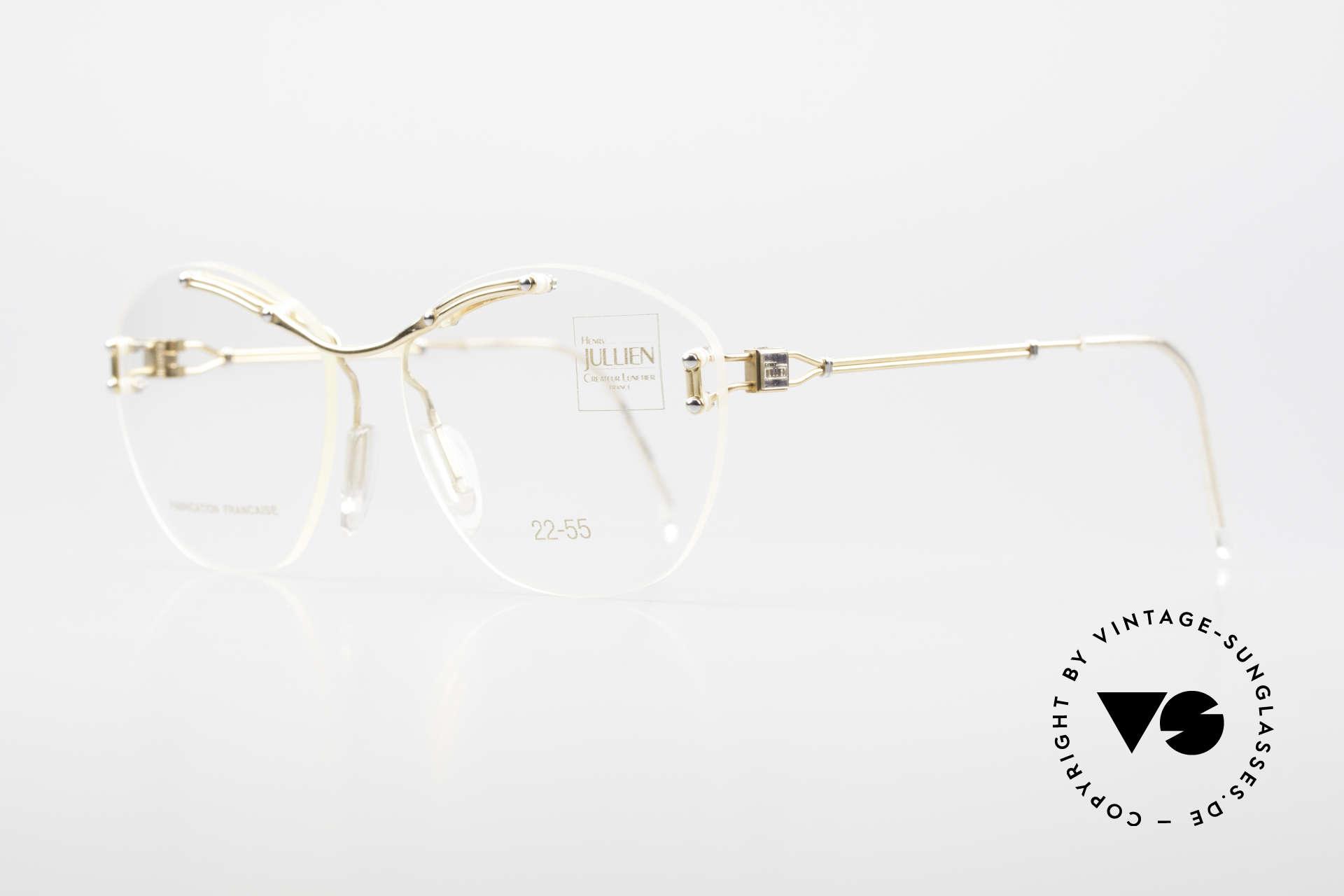 Henry Jullien Melrose 2255 Rimless Vintage Ladies Frame, unworn (like all our rare vintage rimless spectacles), Made for Women