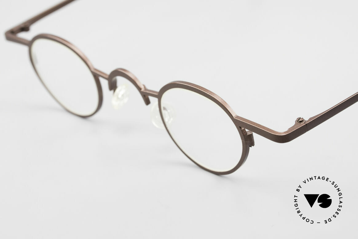 Theo Belgium Pat Avant-Garde Vintage Specs 90s, extraordinary frame in top-quality (unisex; brown colored), Made for Men and Women